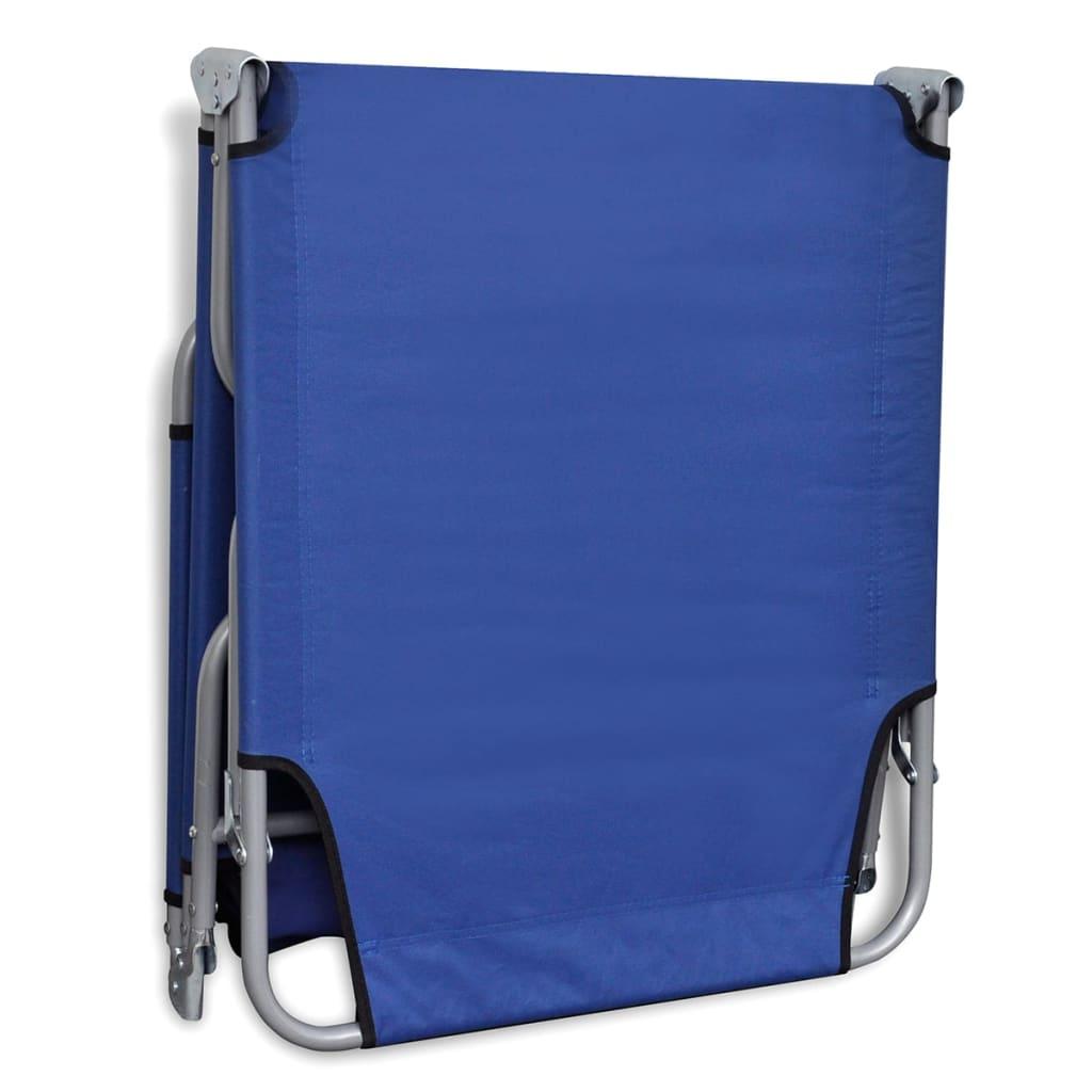 Acheter bain de soleil bleu pliable avec dossier ajustable - Bain de soleil pliable ...