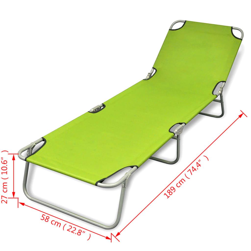Acheter bain de soleil vert pomme pliable avec dossier for Bain de soleil pliable pas cher