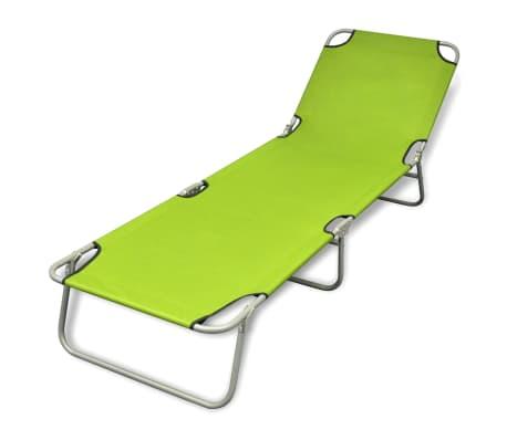 Klappbare Sonnenliege mit einstellbarer Rückenlehne apfelgrün