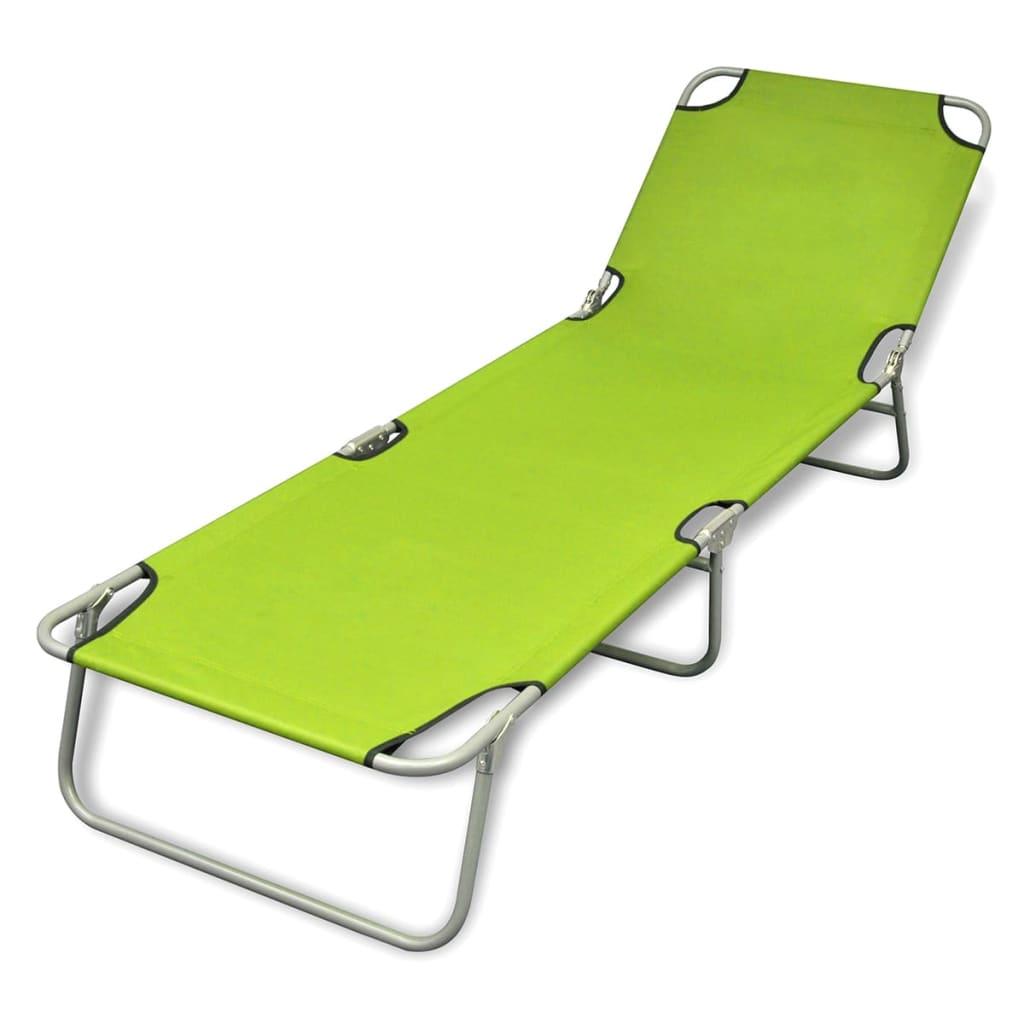 Bain de soleil pliable avec dossier ajustable chaise for Lit bain de soleil pliable