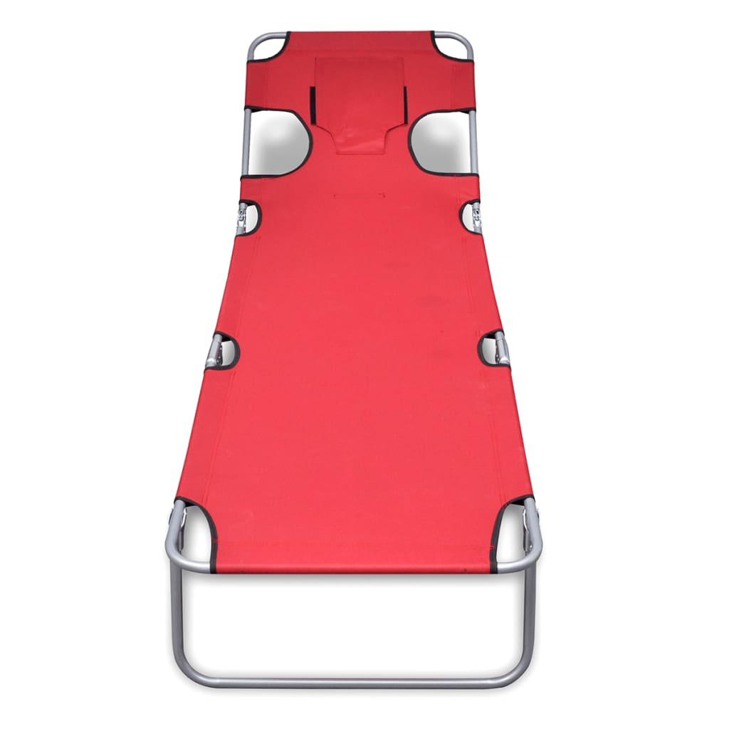 acheter chaise longue pliable avec t te coussin et dossier. Black Bedroom Furniture Sets. Home Design Ideas