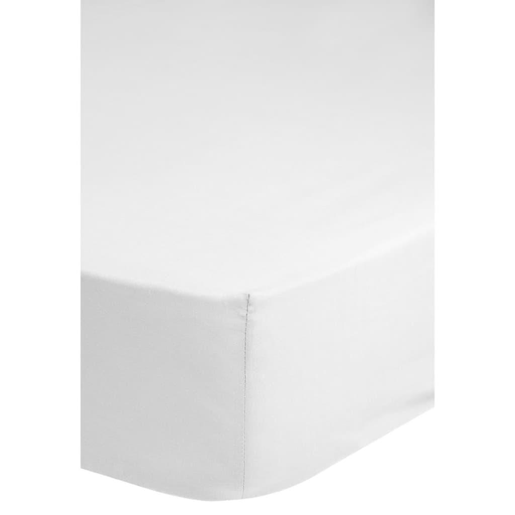 acheter emotion drap housse sans repassage 160 x 200 cm blanc pas cher. Black Bedroom Furniture Sets. Home Design Ideas