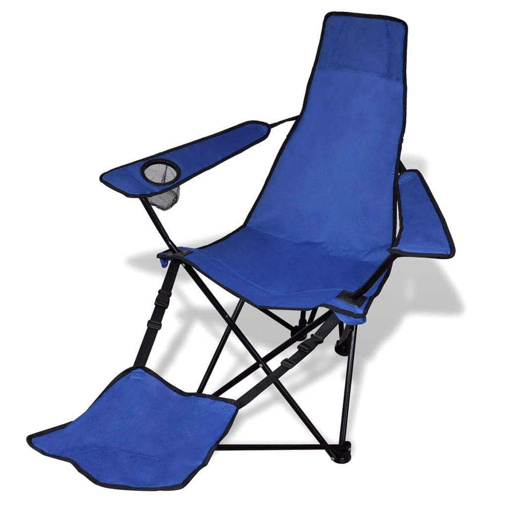 acheter chaise pliable de camping 2 pcs avec repose pied bleu pas cher. Black Bedroom Furniture Sets. Home Design Ideas