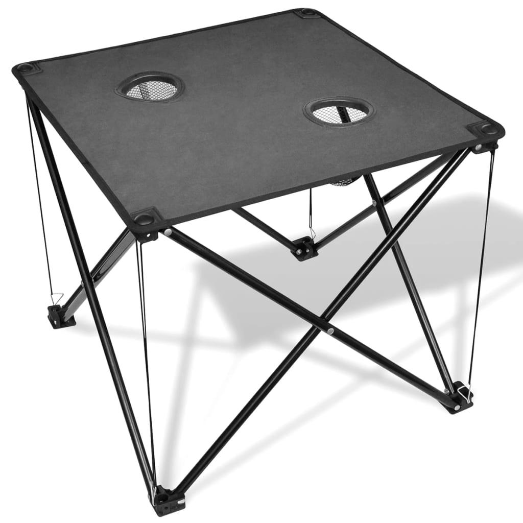 acheter table de camping pliante grise pas cher. Black Bedroom Furniture Sets. Home Design Ideas