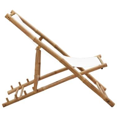 Liegestuhl aus Bambus und Segeltuch[3/6]