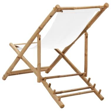 Liegestuhl aus Bambus und Segeltuch[4/6]