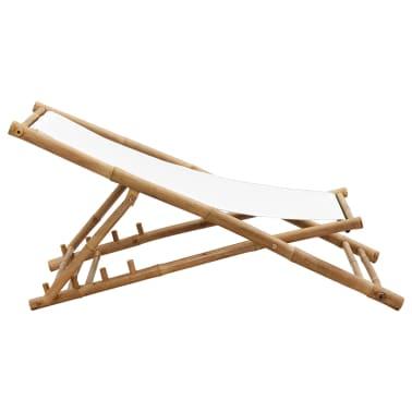 Liegestuhl aus Bambus und Segeltuch[5/6]