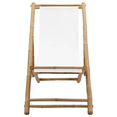 Liegestuhl aus Bambus und Segeltuch[2/6]