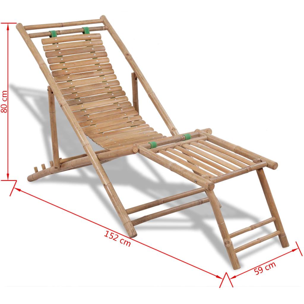 Articoli per sedia da terrazzo in bamb con poggiapiedi for Sedia a dondolo con poggiapiedi