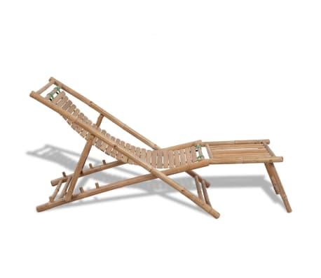 Bambus-Liegestuhl mit Fußstütze[3/7]