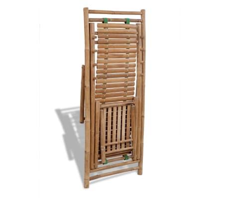 Bambus-Liegestuhl mit Fußstütze[5/7]