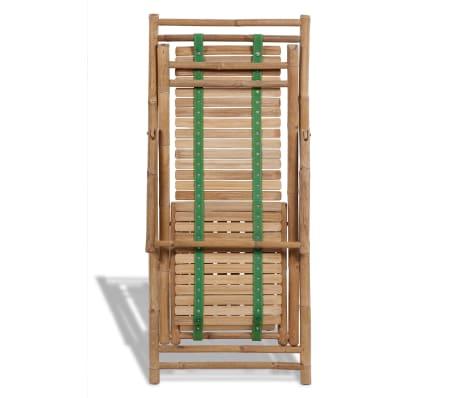 Bambus-Liegestuhl mit Fußstütze[6/7]