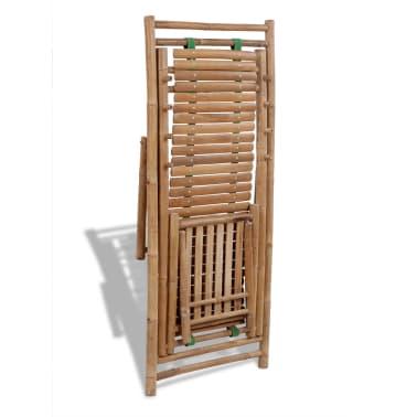 Stolica/ležaljka za sunce od bambusa , s naslonom za noge[5/7]