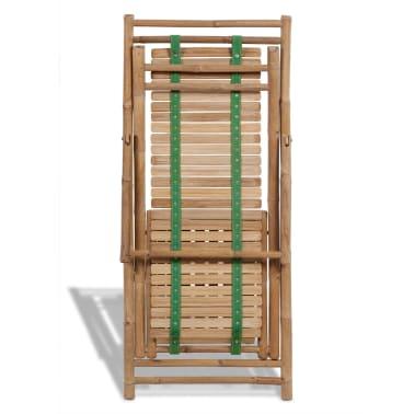 Stolica/ležaljka za sunce od bambusa , s naslonom za noge[6/7]