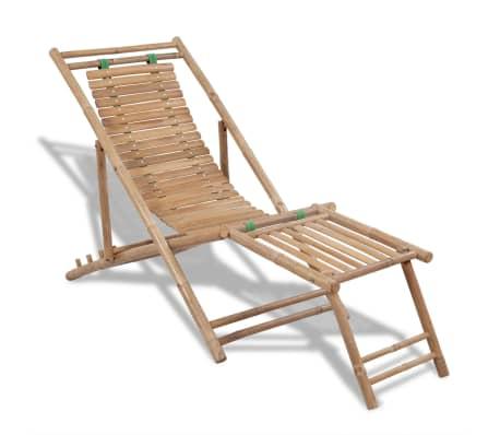 Bambus-Liegestuhl mit Fußstütze[1/7]