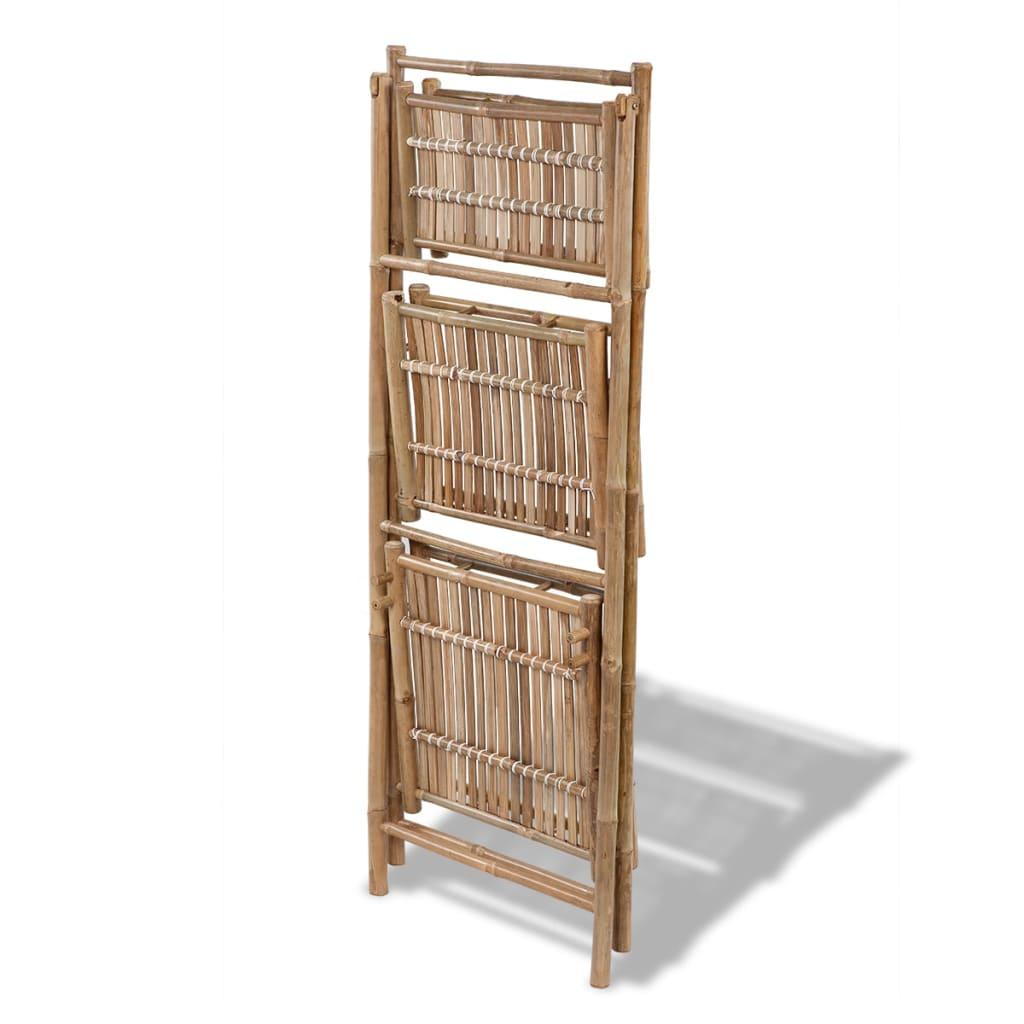 Handla Blomhylla i bambu med 3 våningar hopvikbar | vidaXL.se