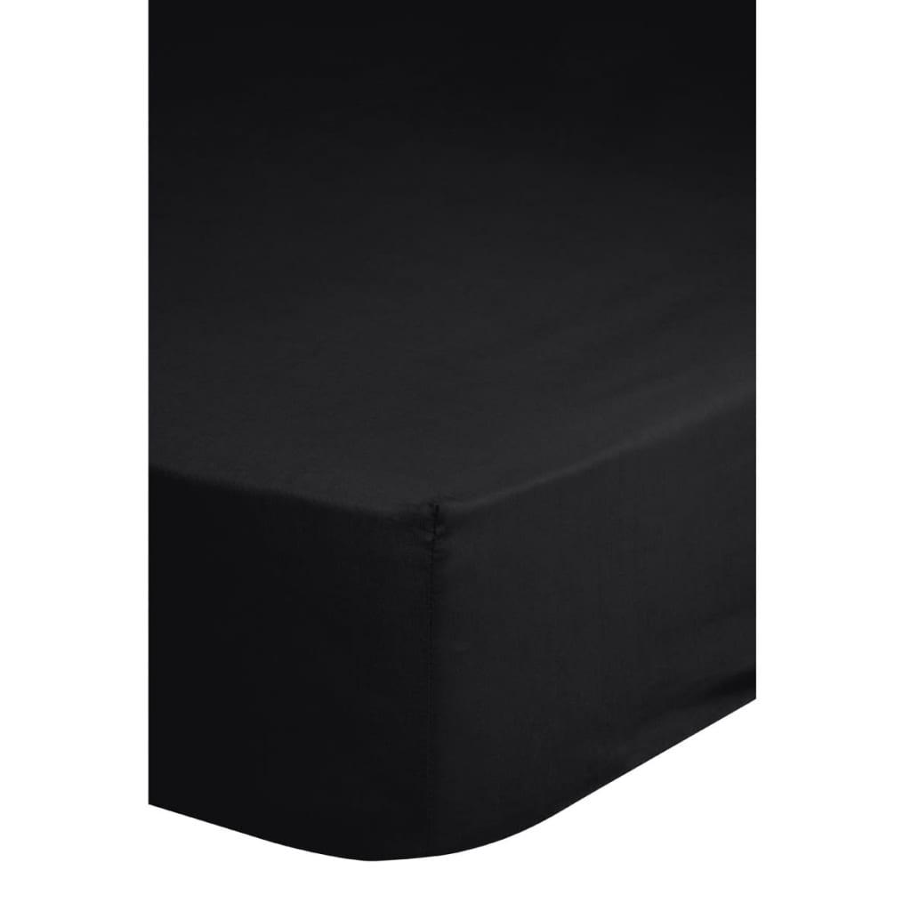 Afbeelding van Descanso Hoeslaken dubbelzijdig jersey 140x200 cm zwart 0215.04.44