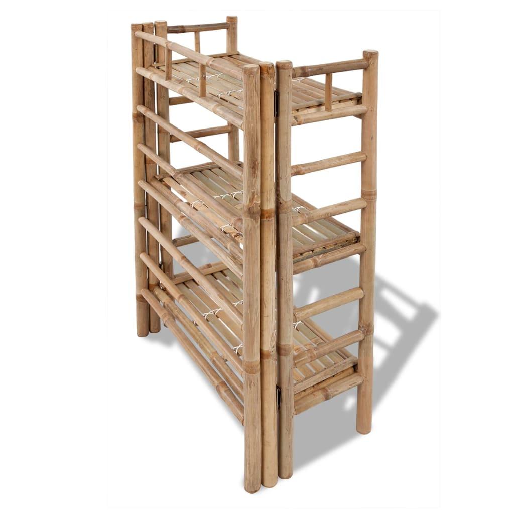 Estanter a de bamb con 3 niveles para plantas tienda - Estanteria para plantas ...