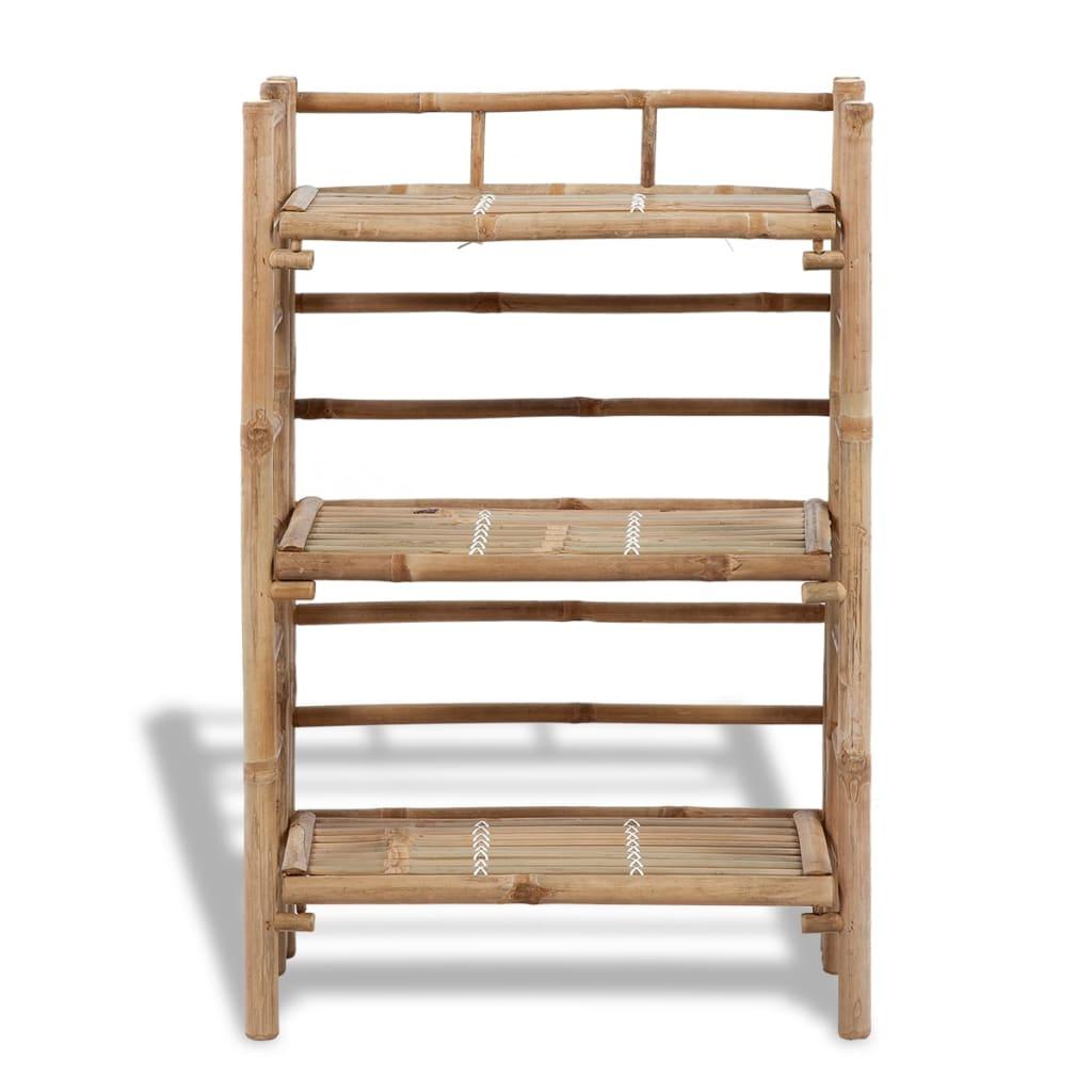 Estanter a de bamb con 3 niveles para plantas - Estanterias para plantas ...