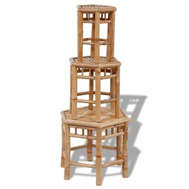 Bambus-Stuhl-Set 3-teilig[3/4]