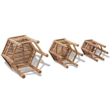 Bambus-Stuhl-Set 3-teilig[4/5]