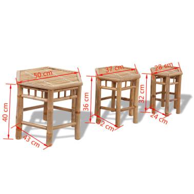 Bambus-Stuhl-Set 3-teilig[5/5]