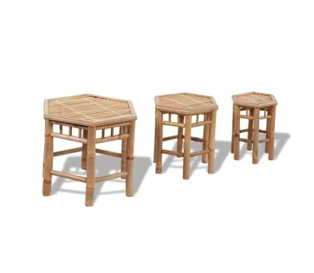 Bambus-Stuhl-Set 3-teilig