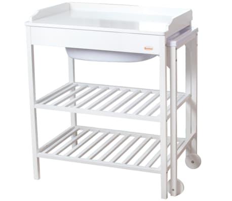 baninni table langer avec baignoire lavi bois blanc. Black Bedroom Furniture Sets. Home Design Ideas