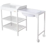 Baninni Bath and Changing Table Lavi Wood White BNBR006-WH