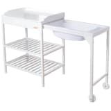 """Baninni Table à langer avec baignoire """"Lavi"""" Bois Blanc BNBR006-WH"""
