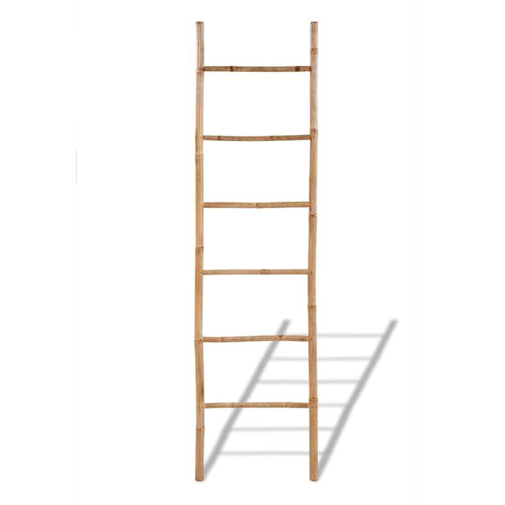 bamboo towel ladder with 6 rungs. Black Bedroom Furniture Sets. Home Design Ideas