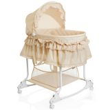 Little World 2-in-1 Schaukel-Stubenwagen 85×70×110 cm Beige LWFU002-BG