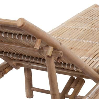 Einstellbare Bambus-Sonnenliege[4/6]