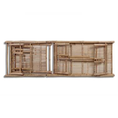 Einstellbare Bambus-Sonnenliege[5/5]