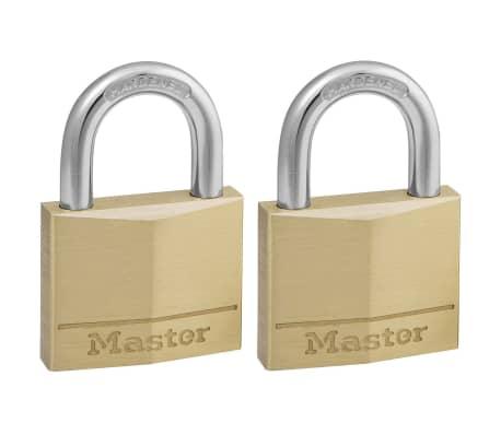 acheter master lock cadenas 2 pcs laiton massif 40 mm. Black Bedroom Furniture Sets. Home Design Ideas