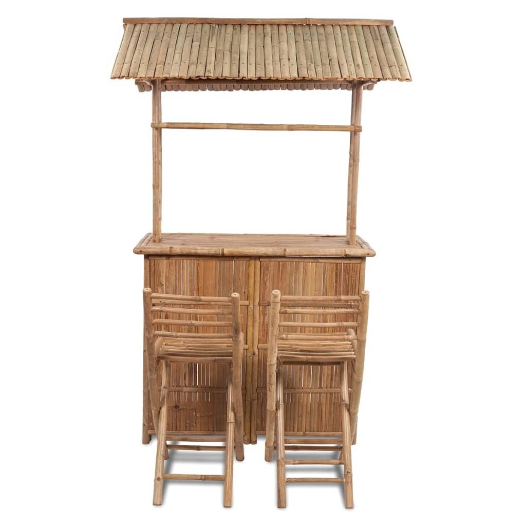 la boutique en ligne ensemble bar avec 2 tabourets de bar en bambou. Black Bedroom Furniture Sets. Home Design Ideas