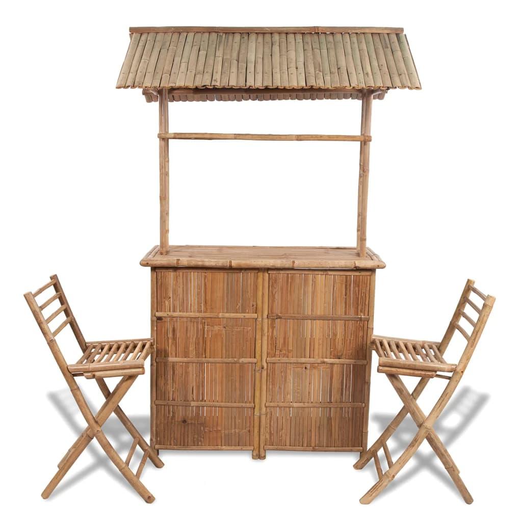 bambus barset 2 st hle 1 tisch g nstig kaufen. Black Bedroom Furniture Sets. Home Design Ideas