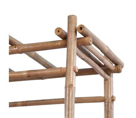 vidaXL Gartenbank aus Bambus mit Pergola[4/5]