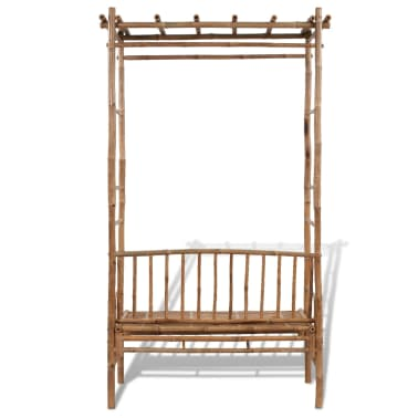 Gartenbank aus Bambus mit Pergola[3/5]