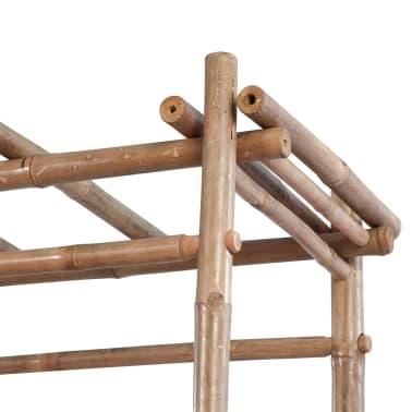 Gartenbank aus Bambus mit Pergola[4/5]