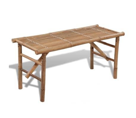 Sitzbank aus Bambus zusammenklappbar