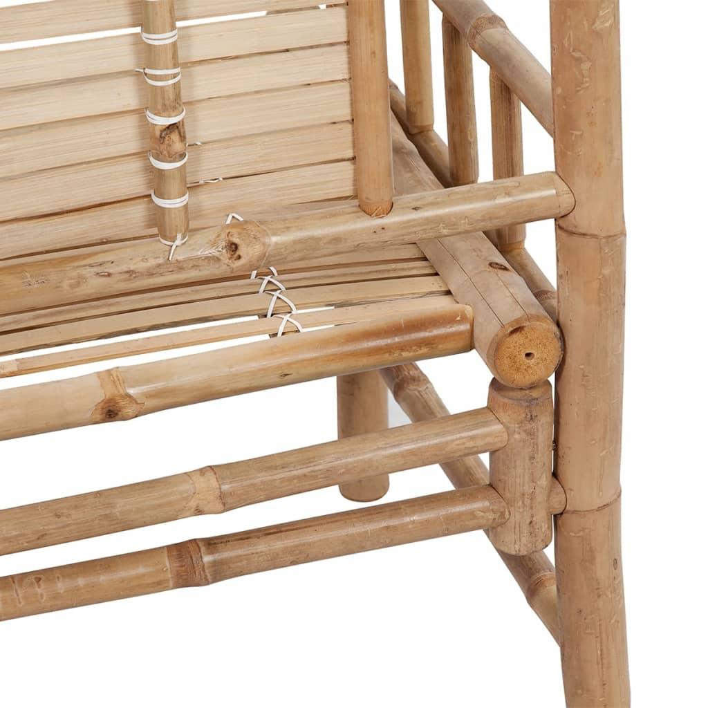 der sitzbank aus bambus mit r ckenlehne online shop. Black Bedroom Furniture Sets. Home Design Ideas