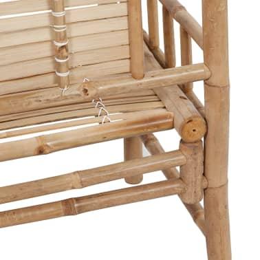 Sitzbank aus Bambus mit Rückenlehne[3/5]