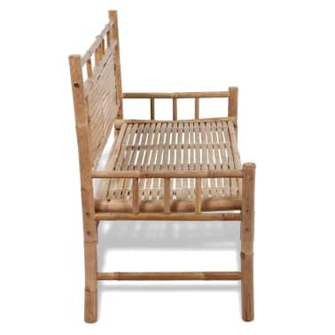 Sitzbank aus Bambus mit Rückenlehne[4/5]