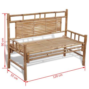 Sitzbank aus Bambus mit Rückenlehne[5/5]
