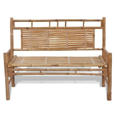 Sitzbank aus Bambus mit Rückenlehne[2/5]