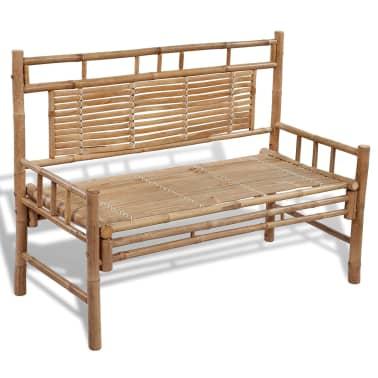 Sitzbank aus Bambus mit Rückenlehne[1/5]