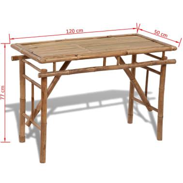 Picknicktisch aus Bambus zusammenklappbar[4/4]