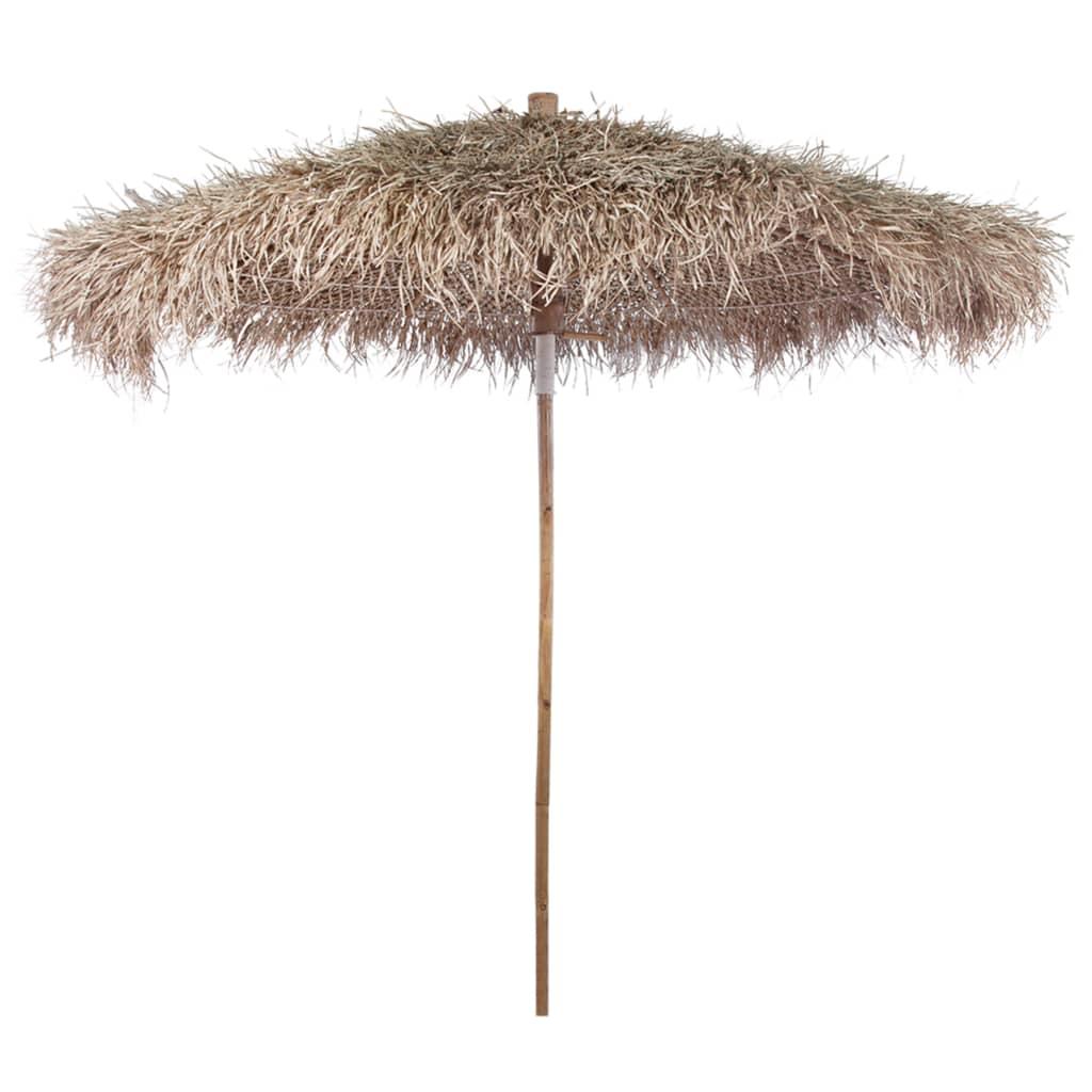 Bambu-parasoll med banan blad tak 270 cm
