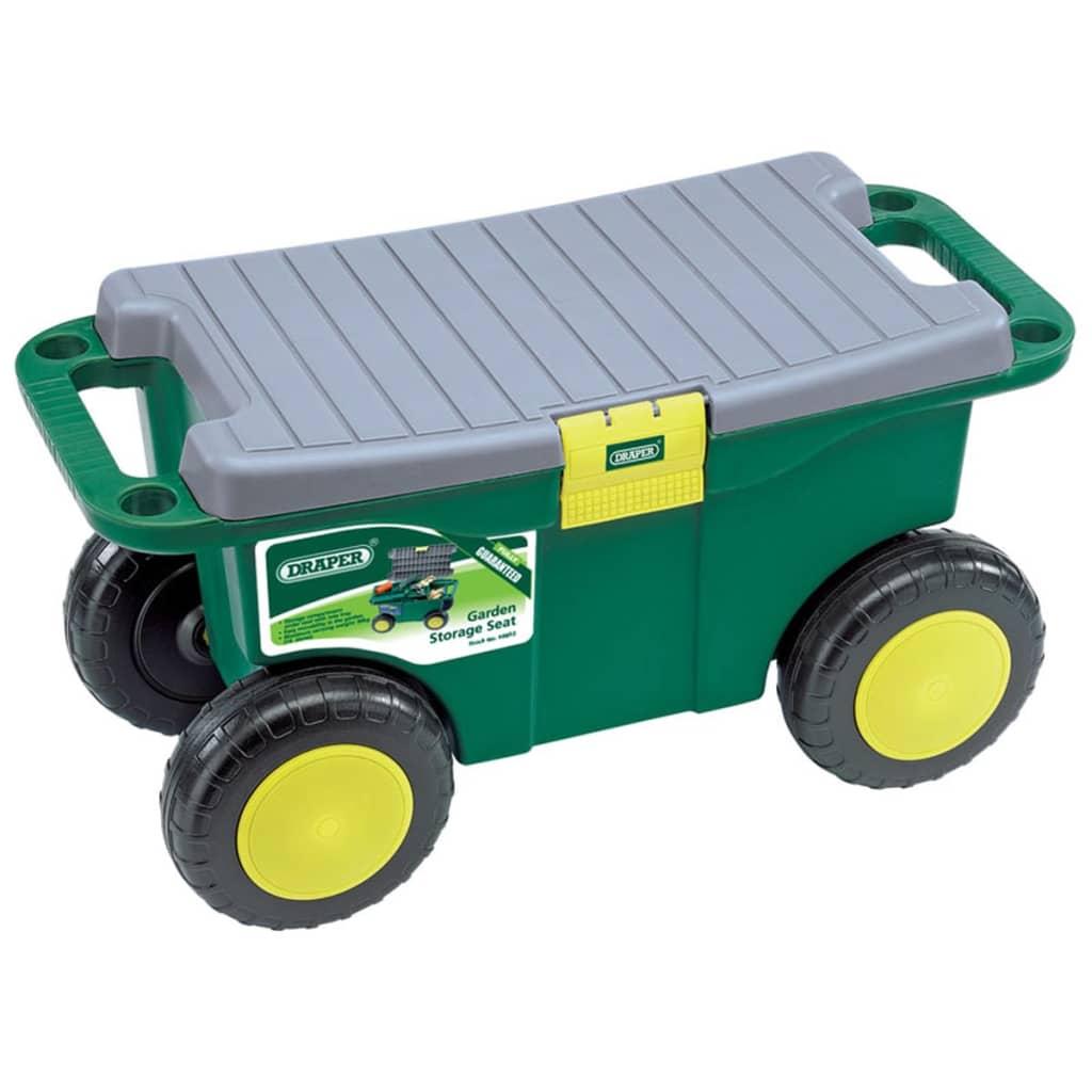 Afbeelding van Draper Tools Tuingereedschapswagen en kruk groen 56x27,2x30,4 cm 60852